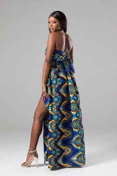 83ef437211 LORENA African Print Blue Multiway Maxi Dress African Maxi Dresses