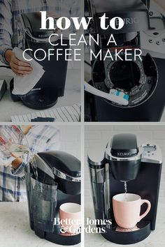 Keurig Cleaning, Cleaning Fun, Safe Cleaning Products, Cleaning Solutions, Deep Cleaning, Organizing Ideas, Organization, Diy Household Tips, First Home Buyer
