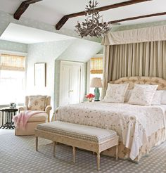Unique Bedroom Dcor Ideas You Haven't Seen Before . The Yellow Cape Cod: Dramatic Master Bedroom Makeover . Our White Gold IKEA Nightstand Makeover Emily A Clark. Home and Family Neutral Bedrooms, Shabby Chic Bedrooms, Cozy Bedroom, Master Bedroom, Small Bedrooms, Serene Bedroom, European Bedroom, European Home Decor, Decor Room
