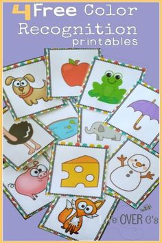 *FREE* Color Recognition Game Activity Pack - classroom education cards for preschool and kindergarten