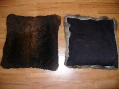 Possum Furskin cushions. Very cosy