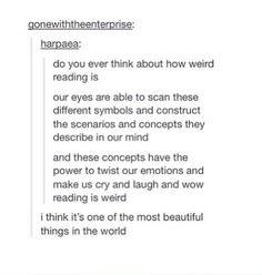 I have thought about this, it's so weird... -R