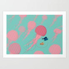 Just+Keep+Swimming+Art+Print+by+Jay+Fleck+-+$16.00