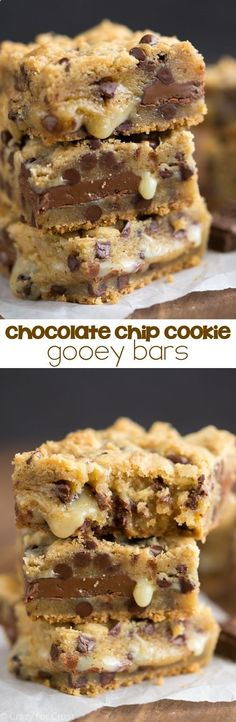 Chocolate Chip Cookie Gooey Bars - Crazy for Crust