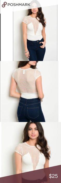 Brandnew beautiful ivory bodysuit Brandnew multiple sizes Tops Tees - Short Sleeve