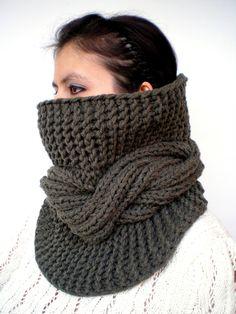 Tour Fashion   Cowl Super Soft Wool Neckwarmer by GiuliaKnit, $47.00
