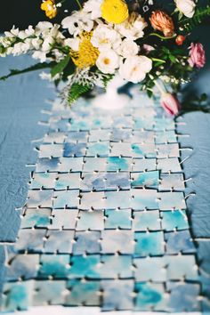 DIY watercolor table runner - photo Emily Chidester http://ruffledblog.com/best-of-2015-diy-projects