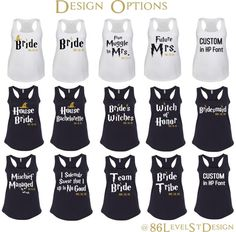Harry Potter Bride Bachelorette Party Shirt Tank Top. Harry