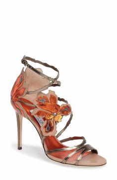 Jimmy Choo Lolita Strappy Flower Sandal (Women)