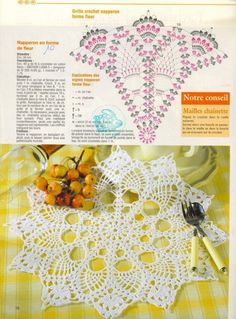 Decorative Flower Doily Pattern – free crochet. 装饰花 More Patterns Like This!