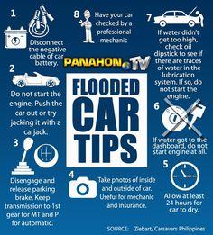 Flooded car tips.