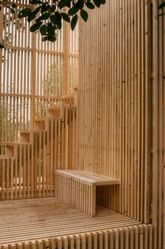 Gallery of Gjennomsikte / Kollaboratoriet - 24 Timber Architecture, Architecture Details, Landscape Architecture, Temporary Structures, Timber Structure, Wood Construction, House In The Woods, Modern Design, Backyard