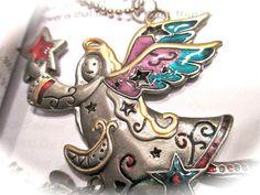 Log onto shellB143.etsy.com to see more sales  Angel charm bookmark BMAC01 by ShellB143 on Etsy, $12.00