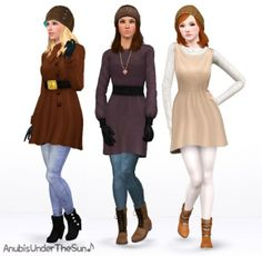 When Hell Freezes Over - Updated Boots as Outerwear at Anubis Under The Sun - Sims 3 Finds