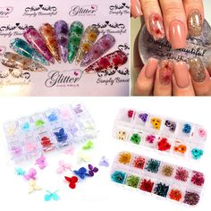 2.66 - Colorful 3D Decorated Real Dry Dried Flower For Uv Gel Acrylic Nail  Diy Art a0a23ba0110a