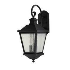 Home Solutions by Feiss OL5701BK 2 Light Woodside Hills Outdoor Sconce at ATG Stores