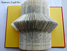 Book folding, art, tutorial, Origami book fold, DIY, book folding, recycled book, old book crafts, paper crafts