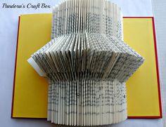 Book folding, art, tutorial, Origami book fold, DIY, book folding, recycled book, old book crafts, paper crafts