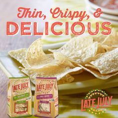 Late July's restaurant style sea salt tortilla chips are thin, crispy & delicious.