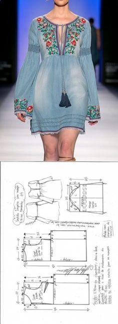 Vestido Império manga flare | DIY - molde, corte e costura - Marlene Mukai