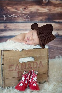 Crochet Newborn Cowboy Hat Newborn Photo Prop by giggalz on Etsy,
