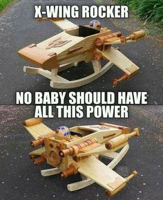 This is absolutely necessary for my future child. Star Wars rocking chair.