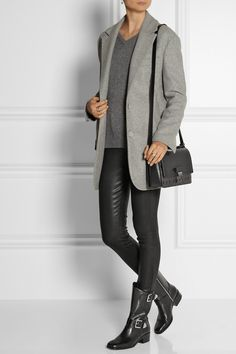 MICHAEL Michael Kors|Robin glossed-leather ankle boots|NET-A-PORTER.COM