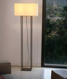 Interior floor lamp VESPER by Faro Barcelona (Spain) is available to order at our Belisama Lighting design studio Bar Set Furniture, Arch Interior, Luminaire Design, Modern Floor Lamps, Led Lampe, Lamp Shades, Textiles, Lighting Design, Table Lamp