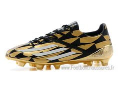 new arrival 09203 9ad39 Adidas Homme Chaussures F50 Adizero FG Messi Solar Gold M17682 Adidas f50  2014 Solar Gold  Metallic Silver M17683