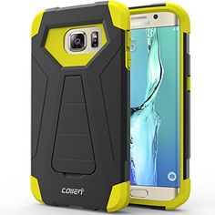 Samsung Galaxy S6 Edge Case, Collen® [Air Buffer Corners] Impact Defender Case [MILITARY GRADE] Tough Armor Case for Galaxy S6 Edge (2015) - Black-Yellow A01 collen http://www.amazon.com/dp/B016UT4P00/ref=cm_sw_r_pi_dp_rYtAwb1JA55M1