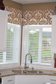 because i am in love with the latest rage damask i thought the perfect corner windowskitchen windowssink : sink windows window love
