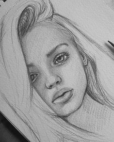 The post appeared first on Woman Casual - Drawing Ideas Pencil Sketch Drawing, Girl Drawing Sketches, Portrait Sketches, Pencil Art Drawings, Drawing Ideas, Pencil Portrait, Unique Drawings, Cool Art Drawings, Realistic Drawings