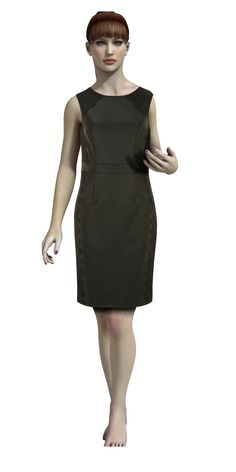 Kleid mit Reißverschluss im Rücken Tolles kostenloses #Schnittmuster.