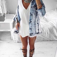 Summer jacket? Nailed it ✔️ 'Inga Oversized Frayed Edge Boyfriend Denim Jacket'…