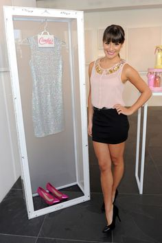 Lea Michele: Candie's Virtual Pop-Up Shop! Classy Outfits, Casual Outfits, Cute Outfits, Fashion Tv, Fashion Outfits, Lea Michele Glee, Casual Look, Swimwear Fashion, Types Of Fashion Styles