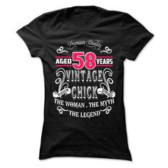 Nice T-shirts  AGED 58 YEARS VINTAGE CHICK . (3Tshirts)  Design Description: AGED 58 YEARS VINTAGE CHICK,THE WOMAN THE MYTH THE LEGEND  If you don't completely love this Shirt, you'll SEARCH your favourite one by way of the usage of search bar on the h... -  #shirts - http://tshirttshirttshirts.com/automotive/best-sales-aged-58-years-vintage-chick-3tshirts.html