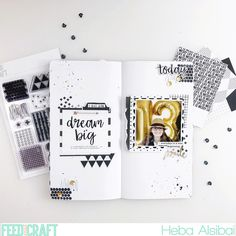 Traveler's Notebook spread by Heba Alsibai (FYC Pattern Play kit)