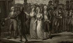 Départ pour Vienne de la princesse Marie-Thérèse-Charlotte fille du Roi Louis XVI
