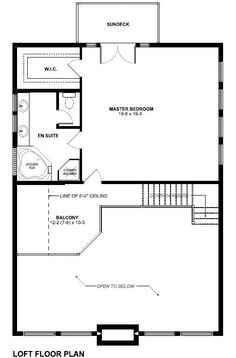 A-Frame House Plan 99961 Level Two
