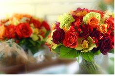 Beautiful fall flowers with plum -- if you can't tell, i'm slightly obsessed with fall weddings and purple