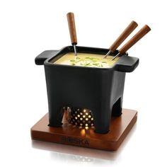 i do love fondue! Tapas Fondue Pot Black Large now featured on Fab. Gouda, Warm Appetizers, Fondue Forks, Fondue Party, Tapas Party, Kitchenware, Tableware, Serveware, Wine Cheese