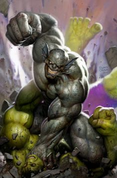 immortal hulk 22 cover by ryanbrown-colour on DeviantArt Comic Book Characters, Marvel Characters, Comic Character, Comic Books Art, Comic Art, Hulk Comic, Marvel Vs, Marvel Villains, Marvel Heroes