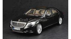 Black Norev 1:18 Model Mercedes Benz S Class S350 S500 S600 2013 Sedan Diecast Model Car.