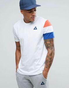 Camiseta blanca con diseño tricolor 1710456 de Le Coq Sportif