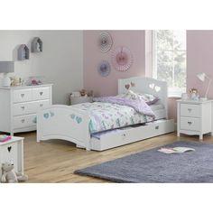 Argos Home Mia White Single Bed & Kids Mattress Home Room Design, Bed Design, White Single Bed Frame, White Kids Bed, Bed With Underbed, Mattress On Floor, Bed Mattress, Black Bedding, Neutral Bedding