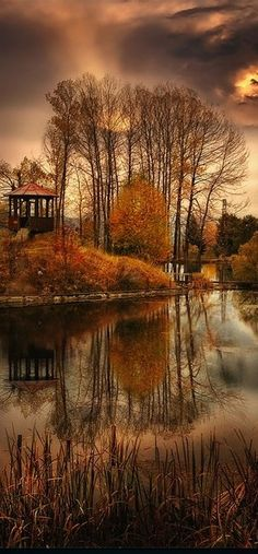Beautiful Mother Nature — Autumn lake in Bulga share moments Beautiful World, Beautiful Places, Beautiful Scenery, Beautiful Flowers, Beautiful Forest, Beautiful Babies, Simply Beautiful, Landscape Photography, Nature Photography