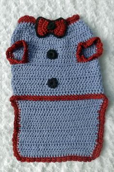 Free Crochet Pattern For Extra Large Dog Sweater : Free Crochet Dog Sweater Pattern. Must make in Extra Large ...