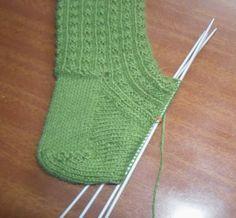 Curso de tejido a mano: Otro modelo de medias con 5 agujas