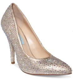 c4f41d079a5 Blue by Betsey Johnson Shine Evening Pumps - Evening   Bridal - Shoes -  Macy s