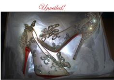Christian Louboutin has created a Disney princess glass slipper. 20 lucky brides can enter to win the Cinderella glass slippers designed by Louboutin. Cinderella Heels, Cinderella Slipper, Cinderella Wedding, Wedding Disney, Real Cinderella, Fairytale Bridal, Mode Glamour, Red Sole, Glass Slipper